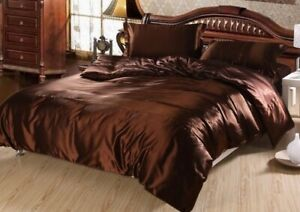 Silk Satin Duvet Cover Quilt Covers Bedspread Bedding Super King Size Queen Full