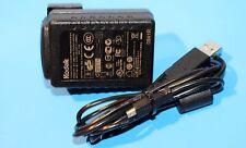 Genuine KODAK TESA 5G1-0501200 AC Adaptador Cargador De Batería + Cable Usb