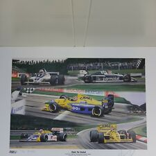 Nelson Piquet 200 Starts signed Formula 1 lithograph 1991, signed/numbered