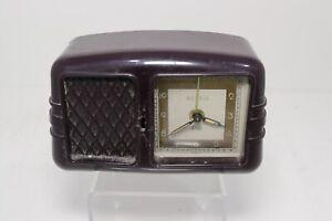 Vintage Rensie Art Deco Alarm Clock Music Box Bakelite For Parts Repair Germany