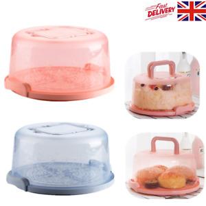 Round Cake Storage Box Handheld Wedding Birthday Cake Container Dessert Holder