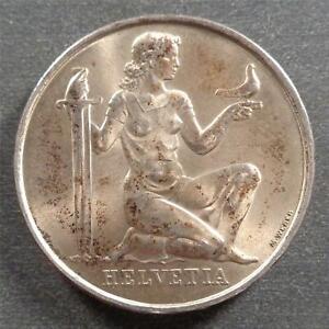 Switzerland, Silver 5 Francs, 1936, toned