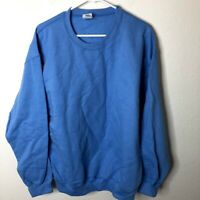 Gildan Men's Fleece Crewneck Sweatshirt, Blue, Large