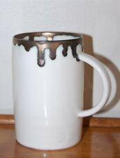 Laima Ceramics Handmade Porcelain Bronze & White Cup / Mug, Nordic Minimalist