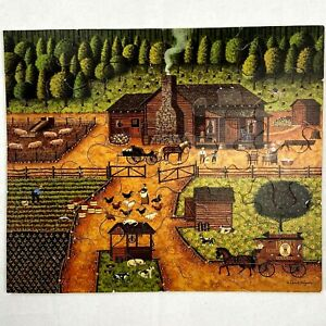 Vintage ELMS Original Handcut Mahogany Jigsaw Puzzle Little House On The Prairie
