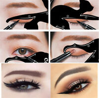 2Pcs Cat Line Pro Eye Makeup Tool Women Eyeliner Stencils Template Shaper Model
