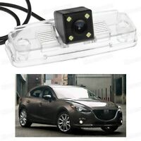 4 LED Car Rear View Camera Reverse Backup CCD for Mazda 3 Hatchback 2014-2016