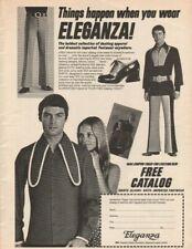 1972 Eleganza Dashing Apparel Dramatic Footwear - Vintage Clothing Fashion Ad