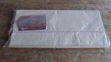 French Vintage Quality Pure Cotton Sheet Ladder Work Trim L 310cm x W 220cm VGC