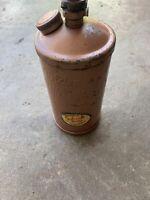 Vintage Golden Rod Dutton-Lainson Co Quart Oil Can/Oiler Rare Gold Label Intact!
