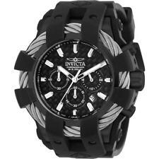 Invicta Bolt 23863 Men's Cable Round Chronograph Black Silicone Watch