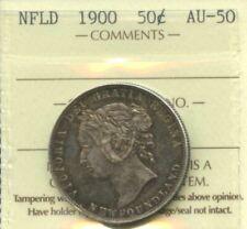 1900 Newfoundland Silver Fifty Cents - ICCS AU-50 - Cert#XAY372