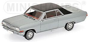 Opel Diplomat A Coupé V8 1965-67 Argent Métallique 1:43 Minichamps