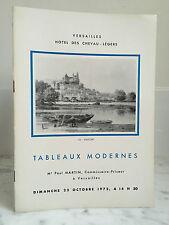 Catalogue de vente Tableaux Modernes Lithographies, Eaux Fortes..22 Octobre 1972