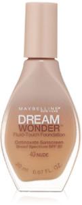 MAYBELLINE DREAM WONDER Fluid-Touch Foundation *40 NUDE*