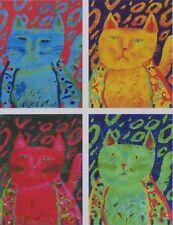 "ALINA EYDEL ""WARHOL CATS"" - MIXED MEDIA ON PAPER, LIMITED EDITION 395, COA"