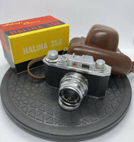 Vintage Halina 35X  Camera Halina Anastigmat In Original Case - Box - Excellent+