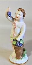 Antique Meissen Style Continental Porcelain Figurine Cherub Grapes & Melons