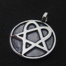 Heartagram pendant ebay silver heartagram pendant him pentagram music rock aloadofball Choice Image