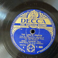 78rpm EDRIC CONNOR the lord`s prayer / the virgin mary had a baby boy