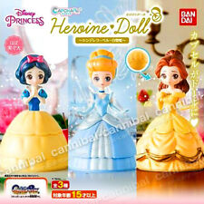 ~ PRINCESS disney - Bandai Heroine 3 DOLLs set - BELLE, CINDERELLA, SNOW WHITE