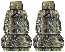 Customized Front Seat Covers in Tree Camouflage3 2015 to 2018 Chevrolet Colorado