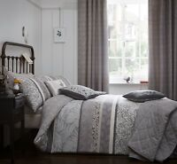 Dreams & Drapes Hanworth Easy Care Duvet/Quilt Cover Bedroom Range Charcoal