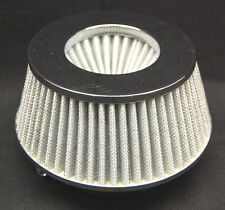 """SPECTRE 8168 COLD AIR INTAKE FILTER 4"""" 102mm INLET WHITE CHROME LOW PROFILE"""