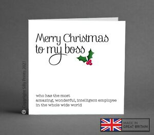 FUNNY CHRISTMAS CARDS - to best boss office work colleague employee cheeky K46