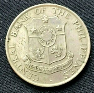 1964 Philippines 50 Centavos XF Coin   Copper Zinc Nickel    #K1425