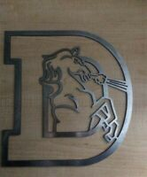 "Denver Broncos Old Logo Metal Art Football Art 10""x10"""