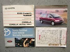 1991- 91 TOYOTA COROLLA 4WD USER OWNER MANUAL HANDBOOK GUIDE INFORMATION BOOK