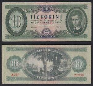 Ungheria 10 forint 1962 BB-/VF-  A-04