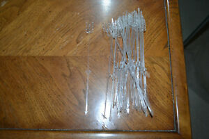 30 clear plastic place card holders - 10 inches - #2.