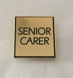 Senior CARER Badge - Can be Engraved with Text of your choice