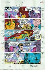 NEW TITANS COMICS #98 OG COLOR PRODUCTION ART SIGNED ADRIENNE ROY COA PG 16