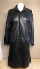 Paradox Womens Lambskin Leather Trench Coat Long Jacket Size 10 BEAUTIFUL