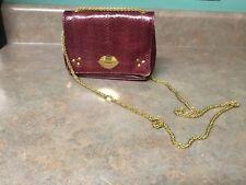 Jerome Dreyfuss Eliot Burgundy Leather LIPS Crossbody Shoulder Handbag (CON17)