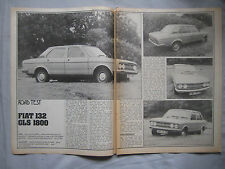1974 Fiat 132 GLS 1800 Original Motor magazine Road test