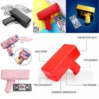 Cash Cannon Money Gun Launcher Party Game Gift w/100pcs Replica Toy Bills