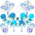 69 Pcs Happy Birthday Decorations Bunting Banner Party Festival Balloons Pompom