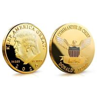 Trump 2020 Coin Keep America Great - Gold Plated President Donald Challenge