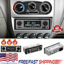 US Vintage Car Bluetooth Radio MP3 Player Stereo USB AUX Classic Stereo Audio FM