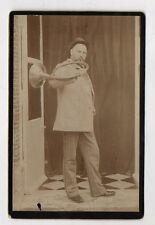 PHOTO ANCIENNE - CARTE CABINET - Cor de chasse Instrument de musique Vers 1900