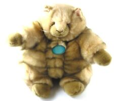 "Incredible Petables FAT CAT Tabby 12"" Plush Pudgy Fuzzball Stuffed Animal"