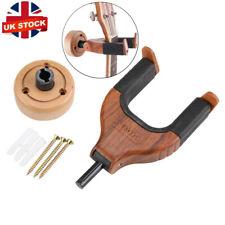 More details for guitar bass wall mount hangers holder hook keeper bracket hanger wooden wood