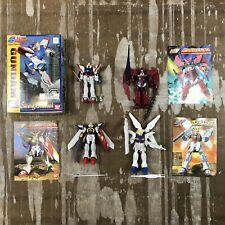 Lot of 4 Complete Vintage Gundam Model Kits w/ Manuals + 1 Box - Mid 1990's