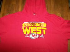 Kansas City Chiefs 2018 AFC West Champions Hooded Sweatshirt 3XL EUC