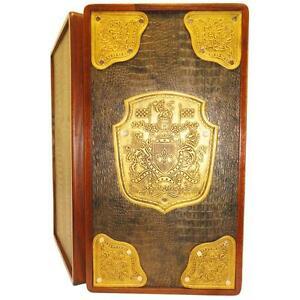 "21"" Golden Dynasty Luxury Backgammon Set, Leather & Wood, Tournament Board, 717"