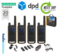 Motorola Walkie Talkie T82 EXTREME Quad Pack Two Way Radio Licence Free PMR446